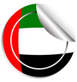 round sticker design for flag of arab emirates vector image vector image