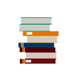 school stack book learn reading literature vector image vector image