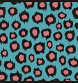 seamless background with leopard pattern vector image vector image