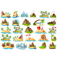 set of different island vector image