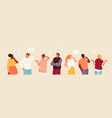 set puzzled people vector image vector image