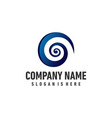 spiral logo for business office vector image