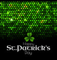 st patrick s day green sequins background vector image vector image
