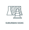 suburban signs line icon linear concept vector image vector image