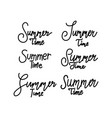 summer time script text design template vector image