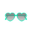 sun glasses in shape of heart in cyan design vector image vector image