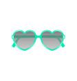 sun glasses in shape of heart in cyan design vector image