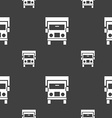 Truck icon sign Seamless pattern on a gray vector image vector image