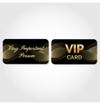VIP Card with gold abstract pattern vector image