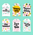 wedding greeting gift labels vector image vector image