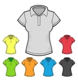 Womens Polo T-shirt Design Template Color Set vector image vector image
