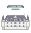 Azay-le-Rideau France vector image