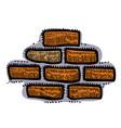 cartoon image of wall icon wall brick symbol vector image