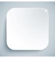 White standard icon empty template