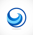 water symbol abstract wave logo vector image