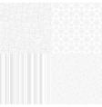 White Textures Set for light design vector image