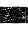 abstract silver polygon mesh overlap on black vector image vector image