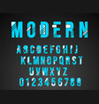 alphabet font modern design vector image vector image