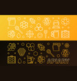 apiary colored 2 banners set in thin line vector image vector image