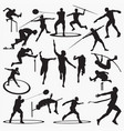 athletic silhouettes vector image vector image