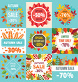 autumn sale fall season concept set flat style vector image vector image