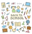 Back to school set of sign and symbol doodles vector image vector image