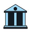 bank building finance economy money vector image