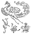 bird tattoo design vector image vector image