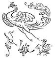 bird tattoo design vector image