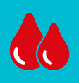 blood red drop icon vector image vector image