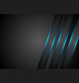 blue glowing stripes abstract tech background vector image vector image