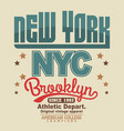 brooklyn t-shirt graphics new york athletic vector image vector image