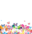 butterflies on transparent background vector image vector image