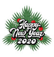calligraphic inscription happy new year vector image
