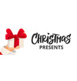 christmas banner with text cartoon flat vector image