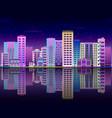 cityscape poster city skyscraper building vector image