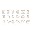 coffee icon hot drinks tea and time vector image vector image