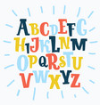 color plasticine alphabet isolated vector image vector image