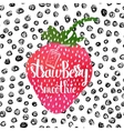 Colorful bright hand lettering poster berry sweet vector image