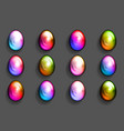 colorful easter eggs multicolor decorative 3d vector image vector image