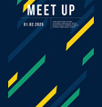 cool colorful background style meet up card vector image vector image
