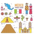 Country Mexico travel vacation guide of goods vector image
