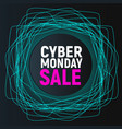 cyber monday sale abstract poster blue promo vector image vector image