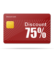 discount card sale percent vector image vector image
