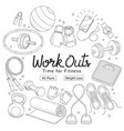 fitness workouts hand drawn style vector image vector image