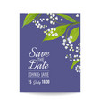floral wedding invitation template lily flowers vector image vector image