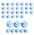 font ice cubes style on white background vector image