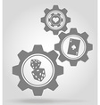 gear mechanism concept 19a vector image vector image