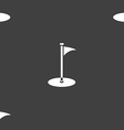 Golf icon sign Seamless pattern on a gray vector image vector image