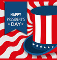 happy presidents day poster design vector image
